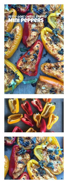 Pesto Goat Cheese Stuffed Mini Peppers Appetizer | ReluctantEntertainer.com