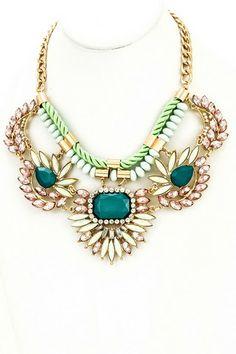 Unique Jeweled Rope Chain Necklace – NanoNano