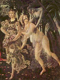 Flora transformándose en la Primavera. El centro del cuadro lo ocupa Venus.