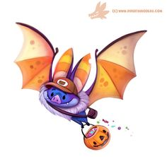 Daily Paint #1072. Halloween Delivery Service by Cryptid-Creations Time-lapse, high-res and WIP sketches of my art available on Patreon (: