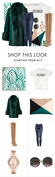 """""""$elfmade"""" by sayitwearit on Polyvore featuring DENY Designs, Sole Society, Balmain, Michael Kors and Jimmy Choo"""