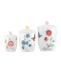 Another great find on #zulily! Butterfly Meadow Canister - Set of Three #zulilyfinds