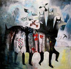by Elsa Klever. Llama or Wolf?  Gonna go with Wolf :)
