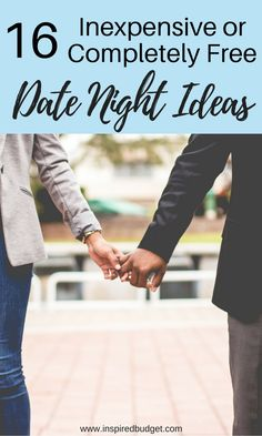 Dates don't have to end when you're trying to save money or pay off debt! Here are 16 inexpensive or completely free date night ideas for you and your loved one to enjoy!