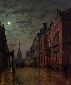 John Atkinson Grimshaw Nocturne, Charles Edward, Atkinson Grimshaw, Art Et Architecture, Victorian Art, Vintage Gothic, Pics Art, Oeuvre D'art, Art History
