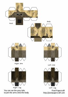 Papercraft Husk (Snapshot 16w20a) Papercraft Minecraft Skin, Minecraft Food, Minecraft Images, Minecraft Mini Figures, Minecraft Characters, Minecraft Designs, Minecraft Creations, Minecraft Crafts, Minecraft Skins