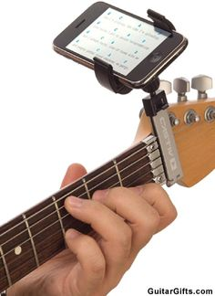 Guitar Sidekick iPod Holder- What a great product!  #gifts #guitar #iPod