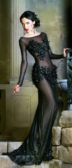glam black gown