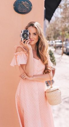 Cutest Dresses From Gal Meets Glam Collection - polka dot off the shoulder dress with ruffled sleeves pinkdress sleeves Classy Women Quotes, Cute Dresses, Summer Dresses, Off Shoulder Fashion, Gal Meets Glam, One Clothing, Female Images, Female Portrait, Spring Outfits