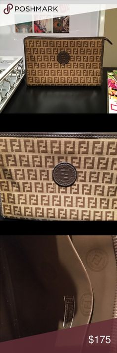 Fendi vintage clutch/ makeup bag! 100% authentic! 💯 authentic Fendi bag! Vintage design no longer available! Fendi Bags