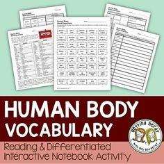 Our Human Body Interactive Science Notebook differentiated vocabulary lessons… Biology Lessons, Science Lessons, Life Science, Science Ideas, Medical Quotes, Medical Humor, Medical Coding, Medical Science, Human Body Activities