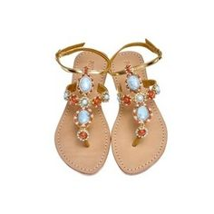Mystique Sandals - jeweled sandals - Polyvore Mystique Sandals, Coral Sandals, Jeweled Sandals, Jewels, Shoe Bag, Nifty, Kicks, Stuff To Buy, Accessories