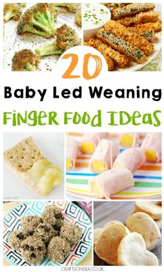 Need some inspiration? We've got 20 finger food ideas for baby led weaning. Sugar free oat bars, crispy baked zucchini and more.