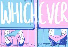 Adolescentes criam pôsteres com mensagens de apoio a transexuais para colar nas portas de banheiros