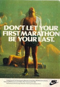 "cafeblissett: "" Don´t let your first marathon be your last. """