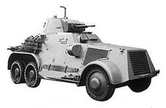 Danish armoured car L-180 developed by the Swedish company AB Landsverk.  Denmark acquired to of this model in 1936. With Büssing-NAG chassis. Büssing motor V8-cyl., 160 HP. Main armament: Danish Madsen 20mm M 1933 L/60 cannon. Secondary armament: 2 x Madsen 8 mm M 1924 type C machine guns.