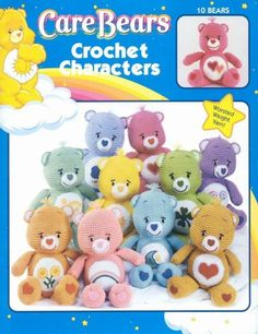 Care Bears Amigurumi PDF crochet patterns por CraftyEPatterns