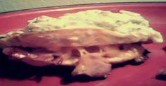 Pepperoni and ham stuffed chicken #recipe
