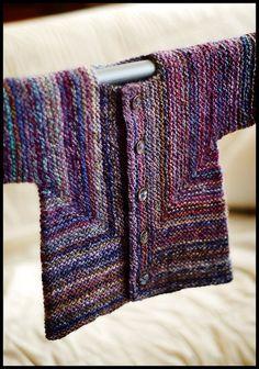 One of my favorite patterns ever! Baby Surprise Jacket by Elizabeth Zimmermann..