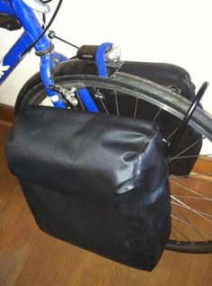 biking DIY Bike Panniers - Homemade Bicycle Panniers : 10 Steps (with Pictures) - Instructables A Mo Bicycle Panniers, Bicycle Bag, Bike Craft, Touring Bicycles, Bicycle Maintenance, Cycling Bikes, Cycling Equipment, Bike Accessories, Vans