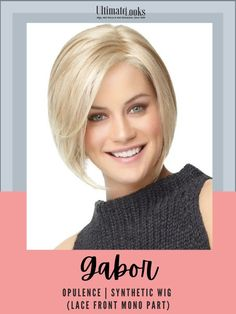 With a Hand-Knotted Monofilament Part for varied parting options and a Sheer Lace Front for natural, off-the-face styling, this subtly layered and expertly tapered chin length page includes a side swept front with sides that angle up to a short nape. #hairstyles #hairdo #hairoftheday #styleinspo #styles Gabor Wigs, Synthetic Lace Wigs, Side Swept, Hairline, Lace Front Wigs, Hair Lengths, Sensitive Skin, Hairstyles, Natural