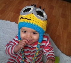 Boys Crochet Minion Hat by crochetcraziehand on Etsy