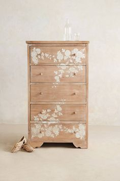 Pearl Inlay Narrow Dresser - anthropologie.eu not painted but still gorgeous!