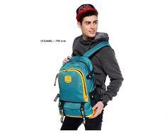 กระเป๋าเป้หลัง กระเป๋าคอมพิวเตอร์ สีสดใส รุ่น LP3344 - สีฟ้า