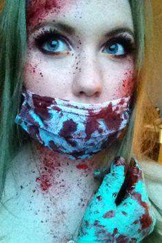 Bloody nurse make up