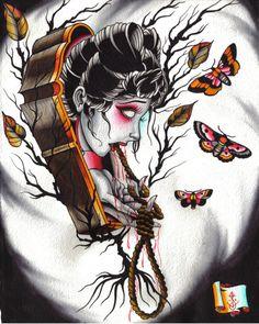 Derek Noble Prints   Noose+tattoo