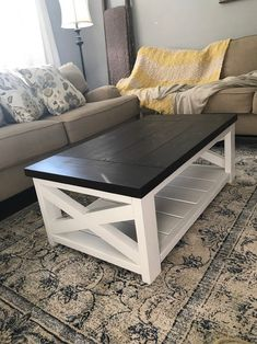 30 Awesome DIY Coffee Table Design Ideas - Once you have located the right DIY coffee table plans, completion of your project will take just a few hours. Coffee tables can be created with just . Living Room Table, Farmhouse Living Room Furniture, Living Table, Living Room Sets, Furniture, Living Room Diy, Living Room Table Sets, Living Room End Tables, Coffee Table Farmhouse