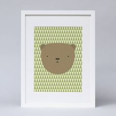 This print of the sometimes grumpy bear, from our Lucky Pine Sawmill range, would look great in any child's bedroom or play room and works well as a pair with our Lumberjack print.