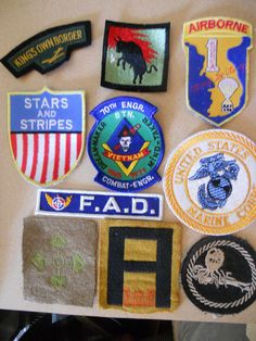 10 DIFF MILITARY PATCHES-LOT 15