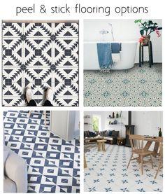 Patterned Peel & Stick Flooring | Centsational Style