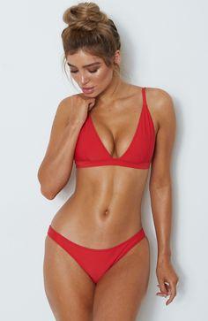615eebd76a8c4 San Luca Bottoms Red Bikini Tops, Thong Bikini, Body, Bathing Suits, String