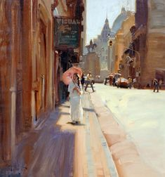 Kim English also here here Colorado based painter Kim English depicts in his paintings the simple beauty found i. Kim English, Urban Painting, City Painting, Figure Painting, Anime Comics, Art Students League, English Artists, Janet Hill, Traditional Paintings