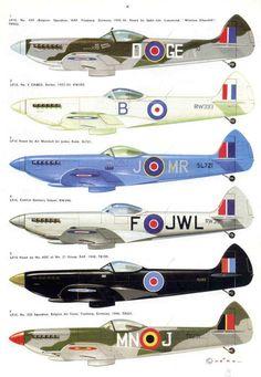 British  WW2  Merlin Spitfires