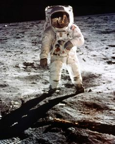 July the day NASA astronauts Neil Armstrong and Buzz Aldrin became the first humans to set foot upon another world. The Apollo 11 moon landing is immortalized in Neil Armstrong, Apollo 11, Buzz Aldrin, One Small Step, Space Race, Man On The Moon, Interstellar, Space Exploration, Space And Astronomy