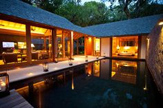 This gorgeous Malaysian retreat is located in an ancient secluded rainforest. So romantic!