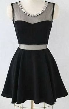 Charming Short Little Black Dress W for more style ideas visit http://all4clothes.blogspot.com/