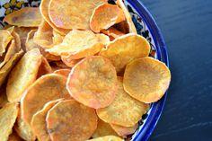 Chips af søde kartofler