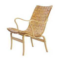 Available for sale from Dansk Møbelkunst Gallery, Bruno Mathsson, 'Eva' armchair Birch and leather, 83 × 59 × 64 cm Outdoor Chairs, Outdoor Furniture, Outdoor Decor, Artsy, Leather, Inspiration, Collection, Design, Armchairs