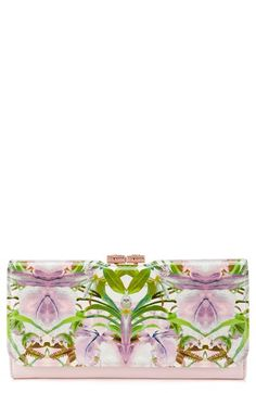 63b1f6689805d8 Ted Baker London  Jungle Orchid  Leather Matinee Wallet available at   Nordstrom Fashion Line