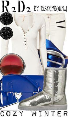 Awesome R2D2-inspired outfit by DisneyBound.