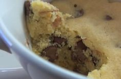 5 Minute Chocolate Chip Cookie in a Mug #quickandeasy #dessert