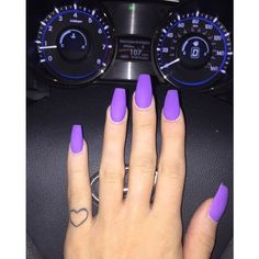 "ashleyanne in wonderland♡ on Instagram: ""Love my #matte purple #nails... ❤ liked on Polyvore featuring accessories and body art"