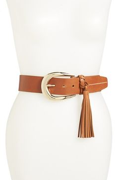 MICHAEL Michael Kors Buckle Tassel Belt | Nordstrom #Shopping #OnlineShopping #MichaelKors