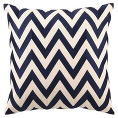 Bring an eye-catching pop of pattern to your bed or sofa with this stylish pillow from D.L. Rhein.   Product: PillowConstruction Material: 100% LinenColor: NavyFeatures:  Insert includedD.L Rhein original design Dimensions: 20 x 20Cleaning and Care: Spot clean