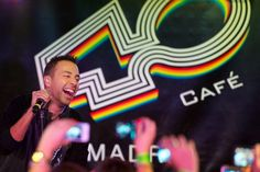 """Howie Dorough of Backstreet Boys performs on stage to promote his new album """"In A World Like This"""" at the 40 Cafe on November 12, 2013 in Ma..."""