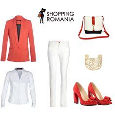 #Outfit de inspiratie #rosu #red #shoes  Le gasiti pe www.ShoppingRomania.com